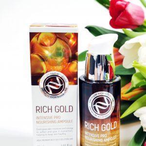 Serum regenerujące ze składnikami złota Enough Rich Gold Intensive Pro Nourishing Ampoule 1