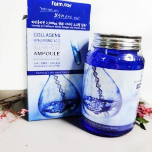 Serum z kwasem hialuronowym i kolagenem FarmStay All In One Collagen and Hyaluronic Ampoule 3