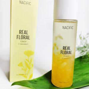 Tonik z płatkami nagietka do skóry wrażliwej NACIFIC Real Floral Toner Calendula 1