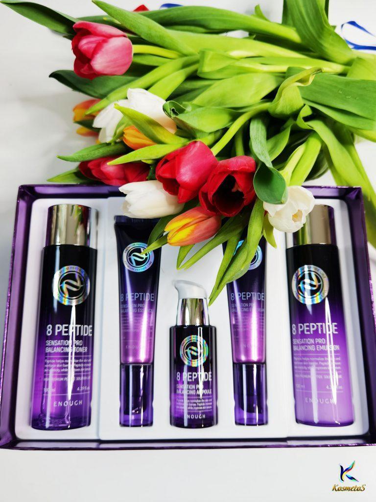 Zestaw do pielęgnacji skóry twarzy z peptydami Enough 8 Peptide Sensation Pro Balancing Skin Care Set 2