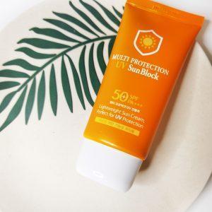 Krem przeciwsłoneczny do twarzy 3W Clinic Multi Protection UV Sun Block SPF50+/PA+++ 2
