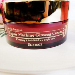 Przeciwzmarszczkowy krem do twarzy z żeń-szeniem Deoproce Repair Machine Ginseng Cream 4