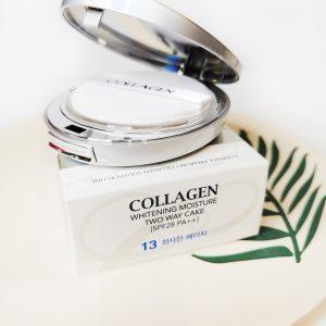 Wybielanie nawilżający puder do twarzy 3 w 1 z kolagenem Enough Collagen 3 In 1 Two Way Cake 1