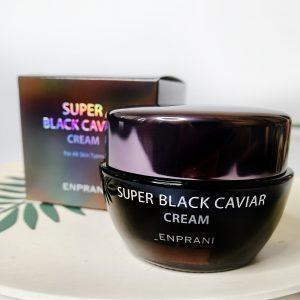 Odżywczy przeciwzmarszczkowy krem do twarzy z czarnym kawiorem Enprani Super Black Caviar Cream 1
