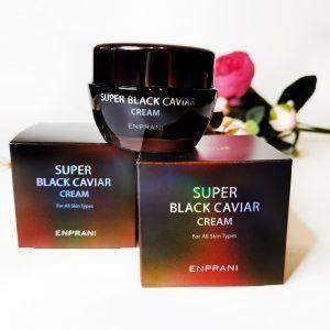 Odżywczy przeciwzmarszczkowy krem do twarzy z czarnym kawiorem Enprani Super Black Caviar Cream 2