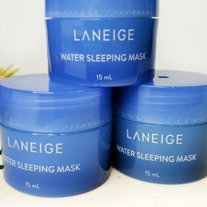 Maska na noc z hydro-zjonizowaną wodą mineralną do twarzy Laneige Water Sleeping Mask 1
