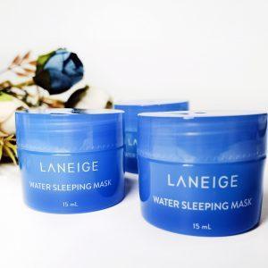 Maska na noc z hydro-zjonizowaną wodą mineralną do twarzy Laneige Water Sleeping Mask 2