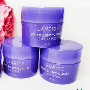 Maska na noc z wodą mineralną i ekstraktem z lawendy do twarzy Laneige Water Sleeping Mask Lavender 1