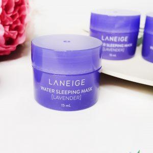 Maska na noc z wodą mineralną i ekstraktem z lawendy do twarzy Laneige Water Sleeping Mask Lavender 2