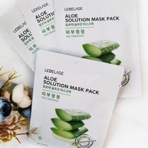 Nawilżająca maseczka z ekstraktem z aloesu Lebelage Aloe Solution Mask 3