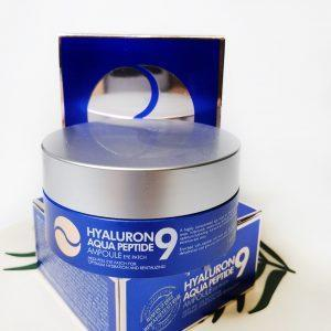 Nawilżające platki hydrożelowe z peptydami Medi-Peel Hyaluron Aqua Peptide 9 Ampoule Eye Patch 15