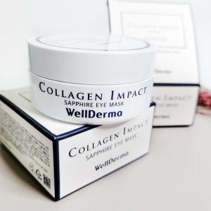 Płatki nawilżające z kolagenem morskim WellDerma Collagen Impact Sapphire Eye Mask 11