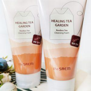 Pianka do jędrności skóry z Rooibos The Saem Healing Garden Tea Rooibos Cleansing 1
