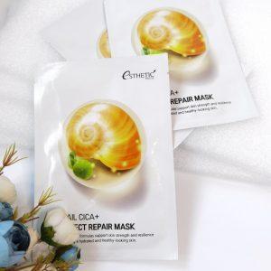 Regenerująca maseczka do skóry na bazie mucyny ślimakowej Esthetic House Snail Cica+Perfect Repair Mask 2