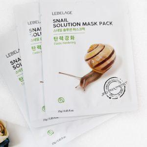 Maska z tkaniny ze ślimakiem Lebelage Snail Solution Mask Pack 1
