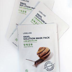 Maska z tkaniny ze ślimakiem Lebelage Snail Solution Mask Pack 3