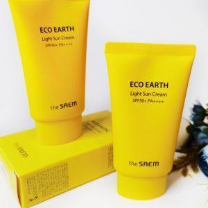 the SAEM Eco Earth Light Sun Cream SPF50+ PA++++ 1
