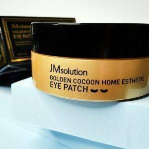 Platki hydrożelowe z jedwabiem i złotem JMsolution Golden Cocoon Home Esthetic Eye Patch 4