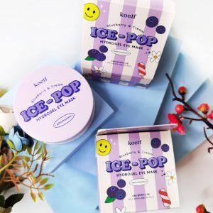Platki tonizujące z jagodami Koelf Ice-Pop Blueberry & Cream Hydrogel Eye Mask 1