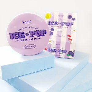 Platki tonizujące z jagodami Koelf Ice-Pop Blueberry & Cream Hydrogel Eye Mask 2