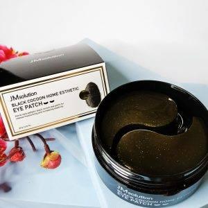 Przeciwzmarszczkowe platki hydrożelowe z czarnym kokonem JM solution Black Cocoon Home Esthetic Eye Patch 1