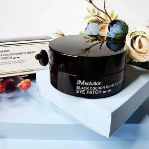 Przeciwzmarszczkowe platki hydrożelowe z czarnym kokonem JM solution Black Cocoon Home Esthetic Eye Patch 2