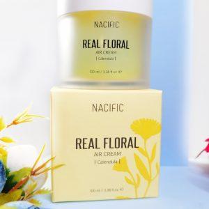 Lekki żel-krem z płatkami nagietka NACIFIC Real Floral Air Cream Calendula 1
