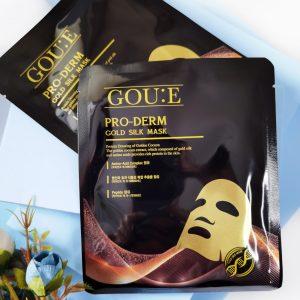 Maska z proteinami złotych kokonów jedwabnika GOU E Pro-Derm Gold Silk Mask 1