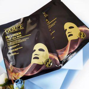 Maska z proteinami złotych kokonów jedwabnika GOU E Pro-Derm Gold Silk Mask 2