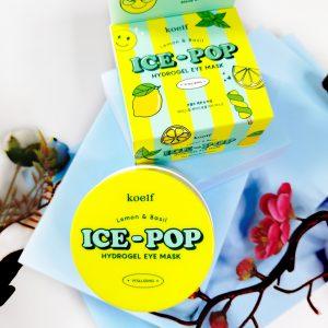 Platki rozjaśniające z cytryną i bazyliąKoelf Ice-Pop Lemon & Basil Hydrogel Eye Mask 1