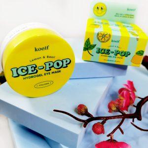 Platki rozjaśniające z cytryną i bazyliąKoelf Ice-Pop Lemon & Basil Hydrogel Eye Mask 2