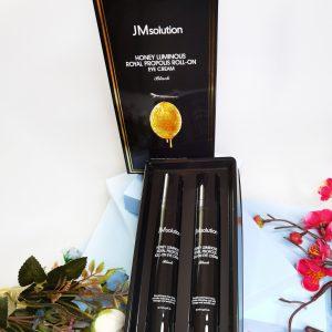 Przeciwzmarszczkowy krem pod oczy z propolisem JM Solution Honey Luminous Royal Propolis Roll-On Eye Cream 2