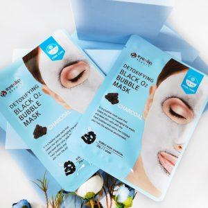 Maseczka Eyenlip Detoxifying Black O2 Bubble Mask Charcoal 3